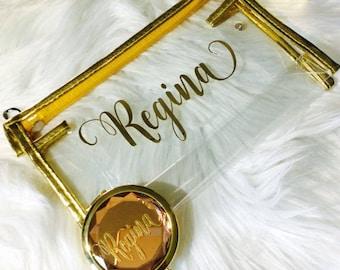 Bridesmaid compact mirror-bridal party gift-personalized compact mirror-personalized bridesmaid gift-bride mirror-bridesmaid gift-bride gift