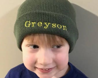 Personalized Winter Beanie, Hat, Cap, Stocking Cap For Kids - Many Colors to Choose From