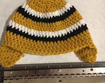 Hand-crocheted wintertime hat