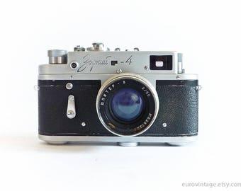 Vintage 35mm Film Camera Zorki 4 Russian Lens Jupiter 8 2/50