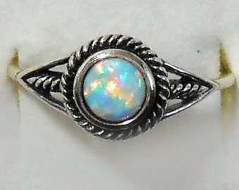 Sterling Silver and Opal Bali Ring New Vintage Wholesale