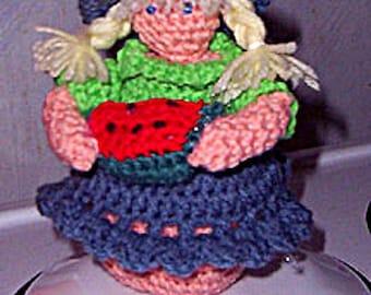 Crochet Doll Pattern, Miss Summer