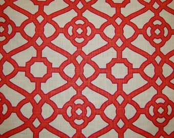 SALE!!!,Pavillion Fretwork Papaya, P.Kaufman Fabrics, Fabric By The Yard
