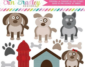 80% OFF SALE Puppy Dog Party Clipart Commercial Use Clip Art Graphics Instant Download