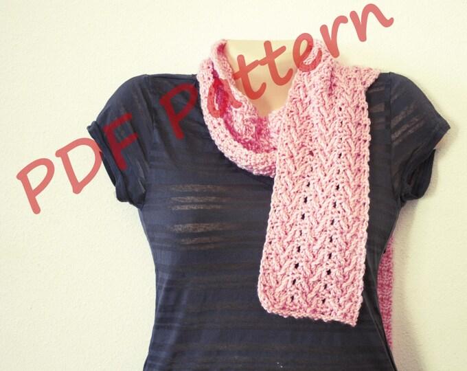 Easy crochet scarf pattern. crochet pattern, scarf pattern, womens scarf pattern, knit look scarf pattern, crochet scarf pattern