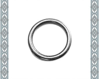 6 pieces O-ring silver plated O-Rings silver finish