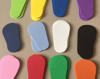 "12 Pair of Foam Shoe Soles for 18"" Dolls"