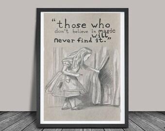 Alice and Wonderland - Print