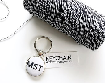 Mountain Standard Time keychain. Key Chain for mountain lovers. MST