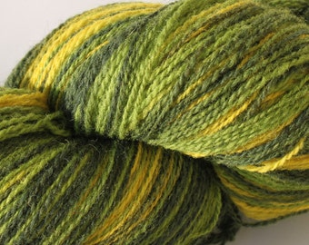KAUNI Estonian Artistic Gradient Wool Yarn Green Yellow 8/2  Art Wool  Yarn for Knitting, Crochet