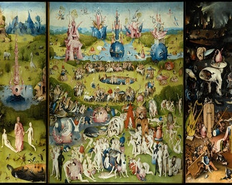 Hieronymus Bosch: The Garden of Earthly Delights. Fine Art Print/Poster (00233)