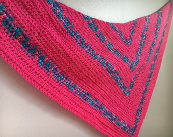 Large Crochet Pink and Multicolor Shawl