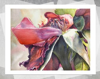 Roses Past Giclee Print - Realistic Watercolor Flower, Watercolor Painting, Realistic Painting, Rose Painting, Gift, Botanical Painting