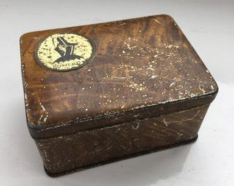Vintage Pomeroy Cosmetics Tin Art Deco 1930's Rare Tin French Powder