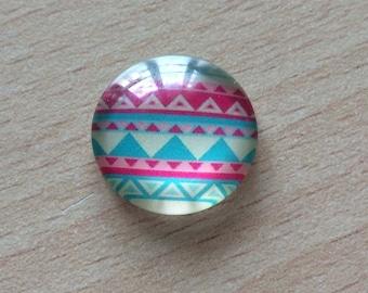 Nice geometry 05 pattern glass cabochon pendant