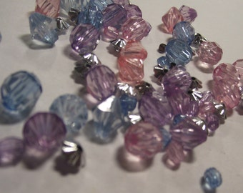 Destash Bead lot in Pink, Purple and Blue