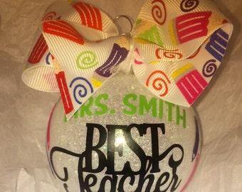 Christmas ornament, Best Teacher ornament, Teacher ornament