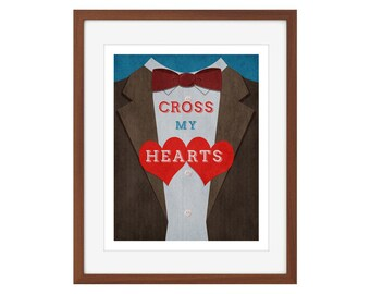 """Doctor Who print - the Eleventh Doctor - """"Cross My Hearts"""""""
