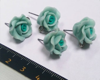 Set of 2 Support earring pink green Mint