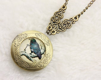 Necklace locket Raven 2020m