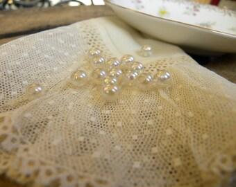 Perles vintage AB en plastique