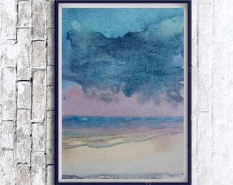 Abstract Art, Watercolor, Abstract landscape, Minimalist painting, Digital Print,Modern Home Decor, watercolor painting, Abstract watercolor