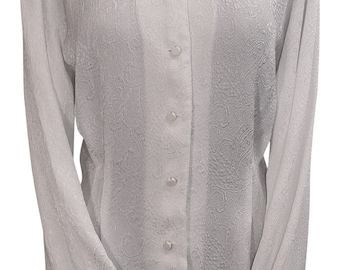 Paisley Embossed Blouse
