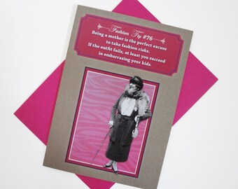 Perfect Excuse  | Funny Greeting Card For Mom - Mom Birthday - Mothers Day - Vintage Fashion – Sassy Humor – Girlfriend Card