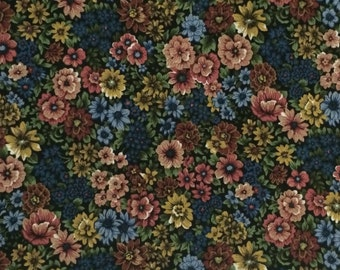 Cotton Fabric / Floral Fabric / Fall Floral Fabric / Spring Industries