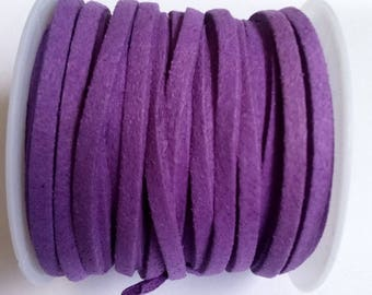 1 m 3mm purple suede cord