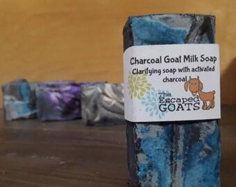 Charcoal Goat Milk Soap -activated charcoal skin care detoxing face mask natural charcoal bar soap detoxing soap acne soap