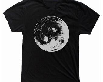 Men's GEOMOON Shirt Dodecahedron Full Moon Cosmic Sacred Geometry Space Tee