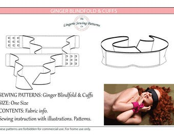 Handcuffs & Blindfold sewing patterns , Digital patterns , Sewing pattern , instant download , Handcuffs pattern , Blindfold pattern , DIY