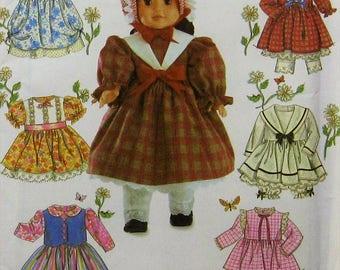 "18""  Doll Clothes Sewing Pattern UNCUT Simplicity 5420 Sailor Dress"