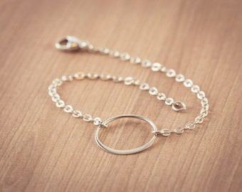 Eternity  Circles Bracelet ,  Sterling Silver,  Silver Eternity bracelet, circle bracelet, karma jewelry,  silver, bridesmaid gifts,