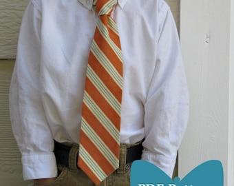 Classic & Reversible Boy's Tie PDF sewing Pattern