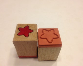 small star rubber stamps, 15 mm (SB1)