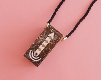 """Geometric Necklace // Art Deco necklace // Statement Necklace // Memphis Modern // Geometric Jewelry // The """"Going Up"""""""