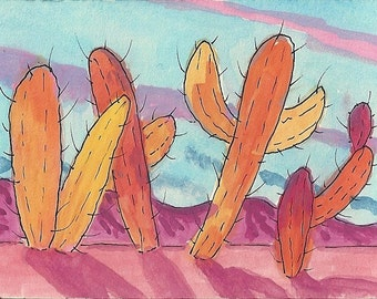 Autumn In The Desert notecard