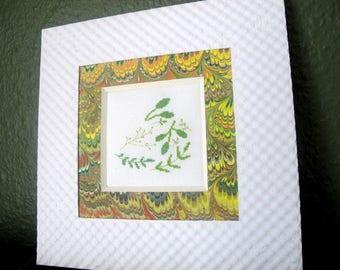 Foliage embroidered cross stitch chart
