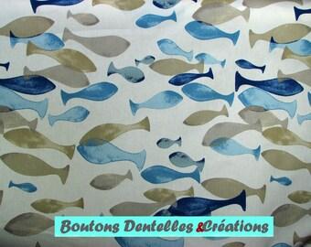 Fabric: Aqua - sea - fish