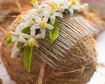 SALE Orange blossom Bridal Headpieces Hair Clips Wedding Hair Pieces Bridal Hair pins Wedding Hair Clips Bride barrette Floral accessories