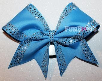 Gorgeous Rhinestone  Allstar Cheer Bow by FunBows !