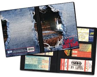 Personalized Concert Ticket Stub Album