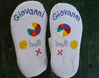 Personalized Painted Socks Children's Size No Slip