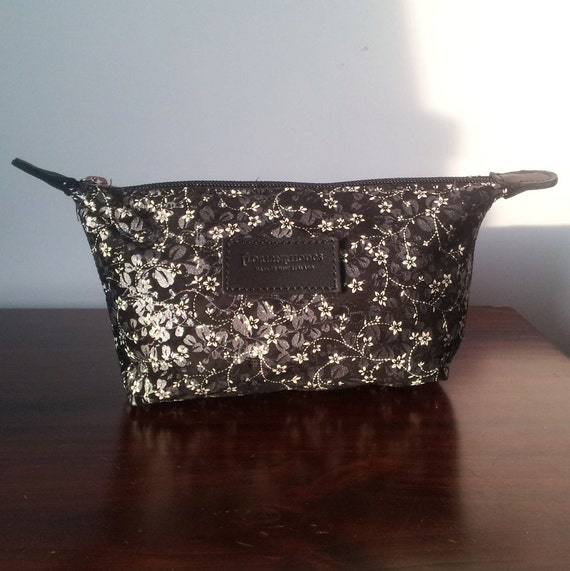 Leather Flower Cosmetic Bag