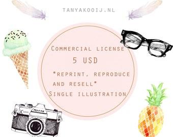 Commercial License Single Illustration