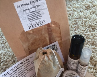 At Home Facial Dry Normal Oily Skin DIY Spa Pampering