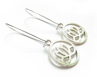 Lotus Kidney Wire Earrings