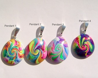 Polymer Clay Focal Pendant -Pick One